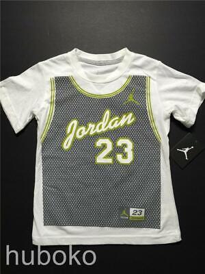 Jordan Boys Reveal Crew Neck Short Sleeve T-Shirt Black 954344-023 Size M NWT