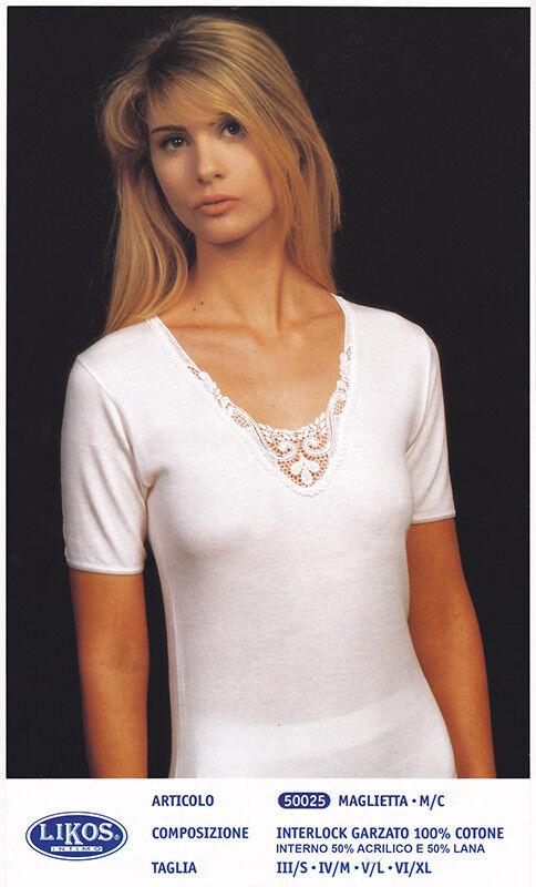 Bnwt MAYSAA Donna BIANCO viscosa a maniche lunghe collo in stile Polo Top Taglia 12