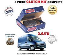 PER FIAT DUCATO 2.0 JTD 84BHP DW10 RHV 2002 > IN POI NUOVO KIT FRIZIONE 3 PEZZI