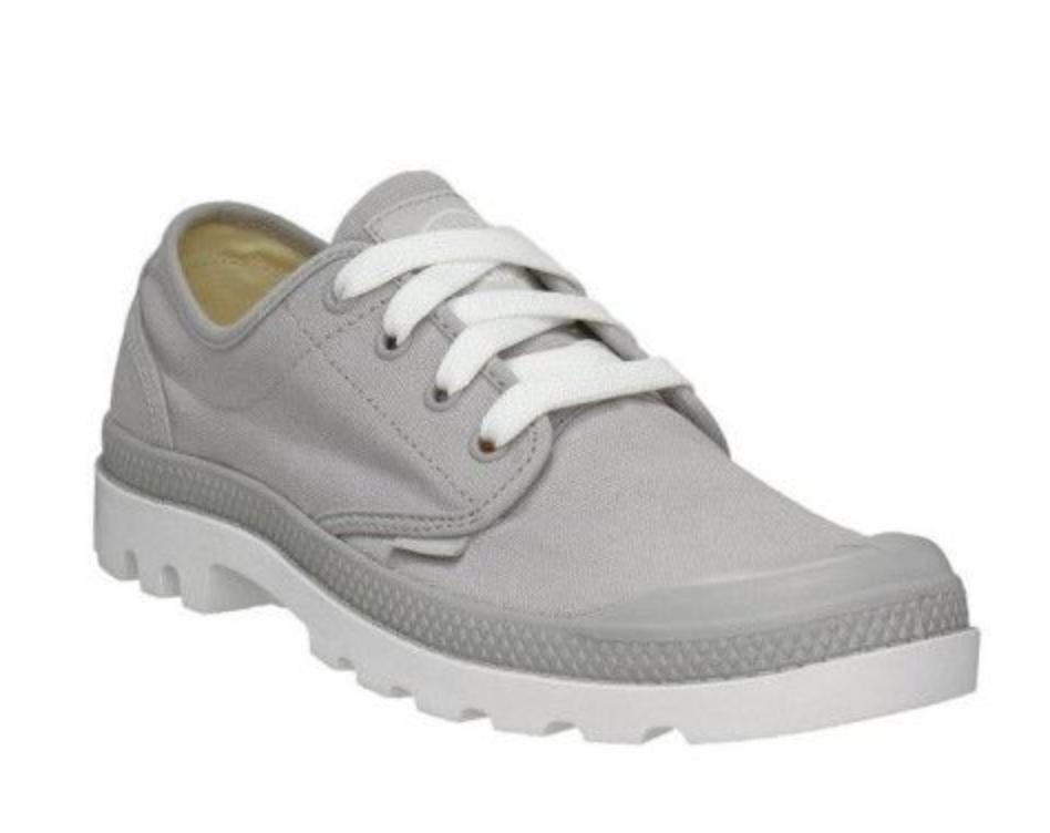 Palladium Womens UK 5.5 Medium Width Vapor Grey Canvas Oxford shoes Trainers