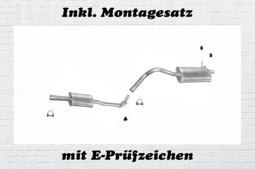 Montagesatz Renault Kangoo 1.2 55KW Auspuffanlage Auspuff Mitteltopf Endtopf