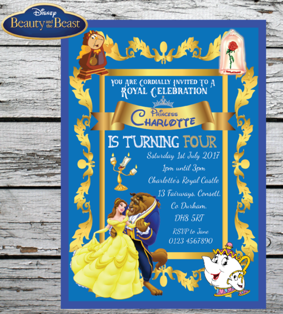 10 Personalised Disney Beauty And The Beast Birthday Party