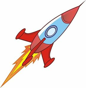 Rocket Space Rocket Cartoon Sticker Decal Graphic Vinyl