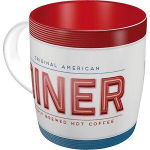 AMERICAN-DINER-Tasse-Kaffeetasse-Cafe-Mug-Teetasse-USA-Bar-retro-Rockabilly