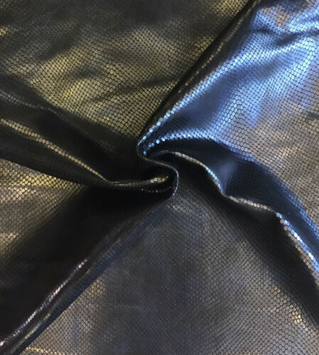 SALE Blue Snakeskin Embossed Genuine Craft Leather Hides Upholstery Material 403