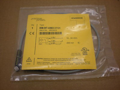 1 NIB TURCK BIM-INT-AN6X-V1131  PHOTOELECTRIC PERMAPROX CABLE 2 AVAILABLE
