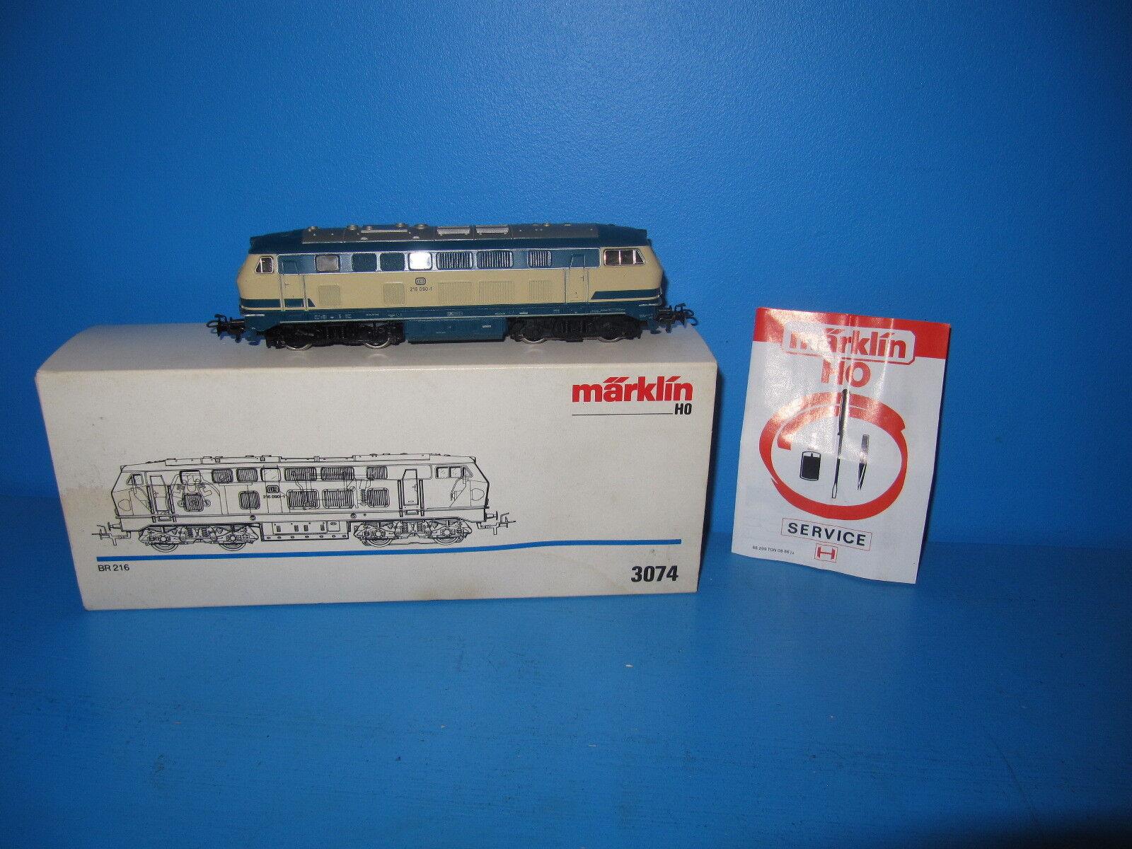 h0 Locomotiva Diesel BR 216 090-1 delle DB in OVP no. 3074   591