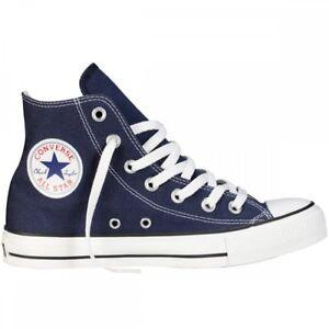 9faebfce37c5 Converse Chuck Taylor Star Navy Blue White Hi Top Mens Womens Shoes ...