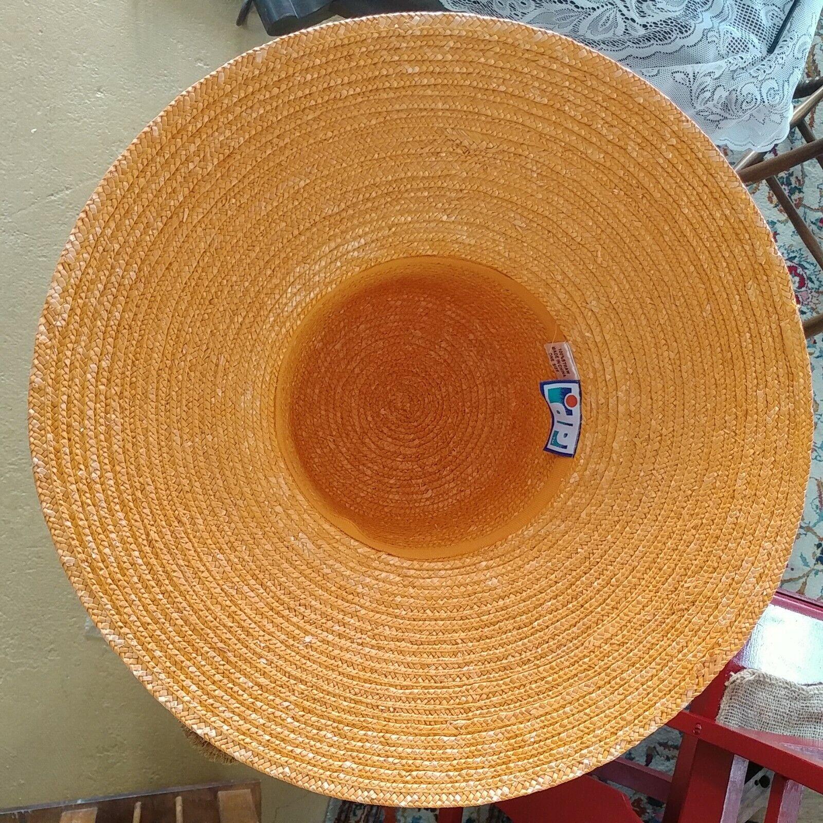 DP Brand Wide Brim Straw Hat - image 4