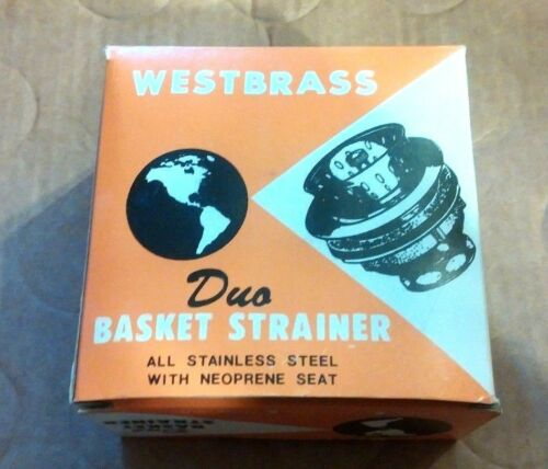 Westbrass DUO BASKET STRAINER 201-SS  For Steel Cast Iron Sink #P80