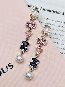 Tous-Earrings-Rose-Gold-Vermeil-Sterling-Silver