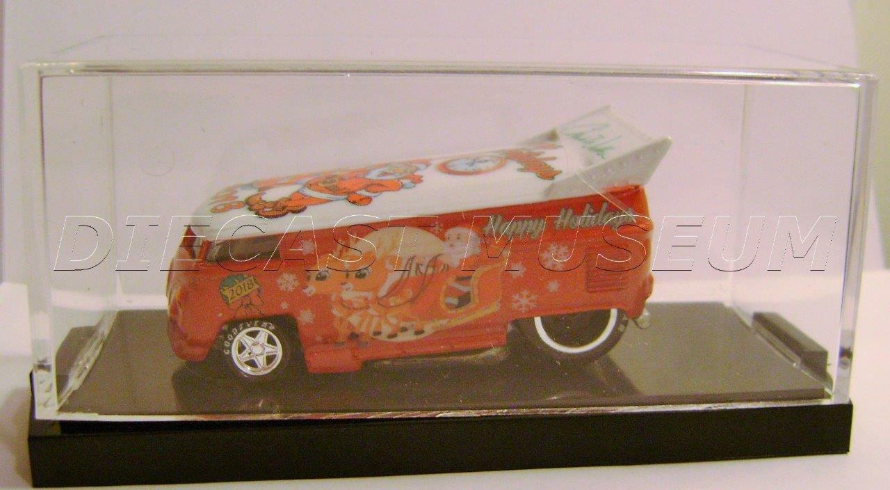 VOLKSWAGEN VW DRAG DRAG DRAG BUS HAPPY HOLIDAYS XMAS NIGHT STALKER HOT WHEELS ONLY 25 MADE a98917