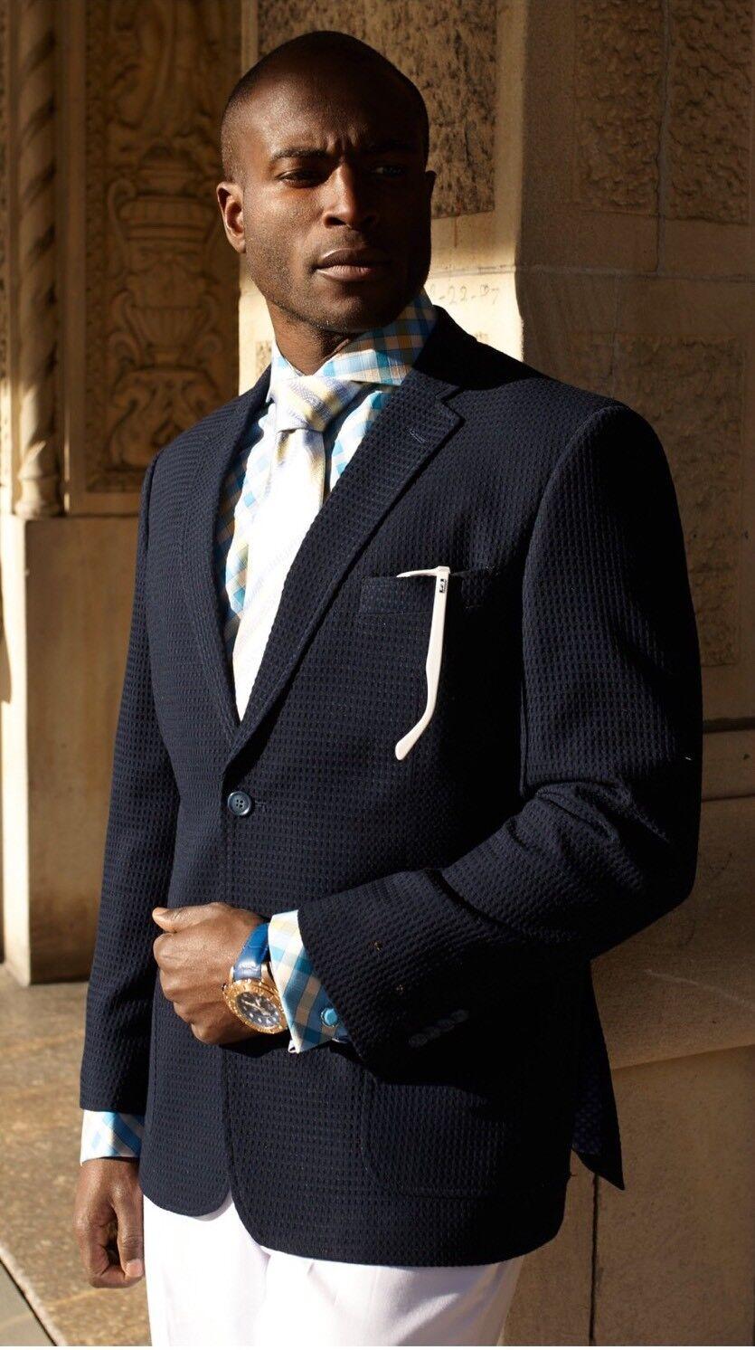 Stevenland Klassische Passform Schwarz Waffel Blazer Sport Mantel   | Einfach zu bedienen  |  Neuer Markt  | Reichlich Und Pünktliche Lieferung