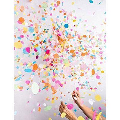 "2 packs 36"" Confetti Balloon Jumbo Latex Balloon Crepe Paper Filled"