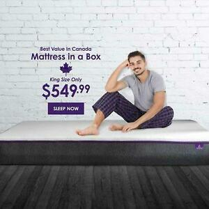 The Perfect Mattress | 10 3-Layer Triple Density Cooling Gel Memory Foam Mattress In A Box Canada Preview