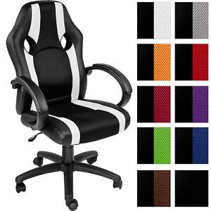 Chaise-de-bureau-fauteuil-siege-racing-sport-tissu-voiture-ergonomique