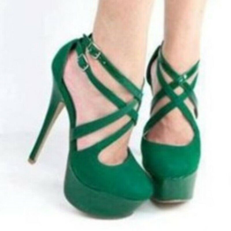 US4.5-12.5 donna Ladies Hollow Out Closed Toe Party Prom High Heel Sandals Pumps