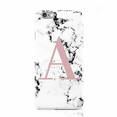PERSONALISED PINK/MARBLE INITIALS MOBILE PHONE CASE COVER FOR APPLE IPHONE 6 6S