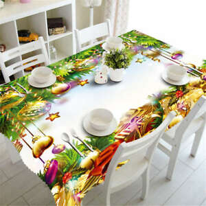 Christmas-Classic3D-Tablecloth-Table-cover-Cloth-Rectangle-Wedding-Party-Banquet