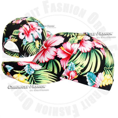 2 of 8 Hawaii Baseball Cap Hat Snapback Curved Brim Adjustable Hawaiian  Tropical Floral b5a2631f8f94