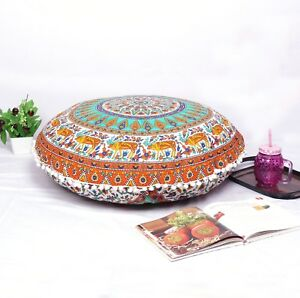 Multi-Color-Ombre-Large-Throw-Decorative-Floor-Pillow-Cushion-Cover-Mandala
