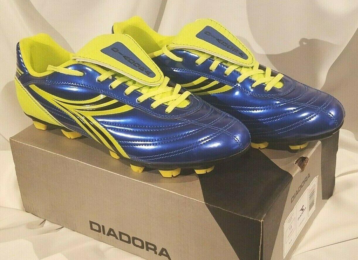 0163b1dab2a Diadora Men s Evento Soccer Cleats blueee   Yellow Size 11 FREE SHIPPING