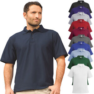 Mens-Classic-Polo-Top-Plus-Size-T-Shirt-Plain-Shirt-Big-And-Tall-Short-Sleeve