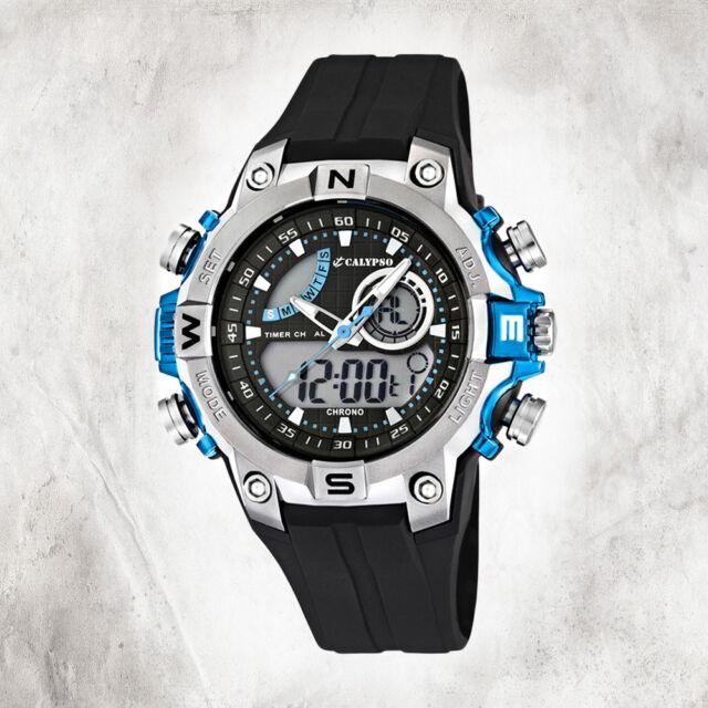 Calypso Plastic Pure Youth Watch K5586/2 Wristwatch Black Digital UK5586/2