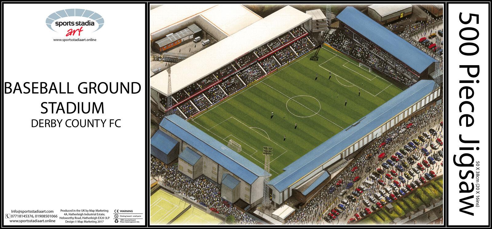 Baseball Ground Stadia Fine Art 500pc Jigsaw Puzzle - Derby County Football Club
