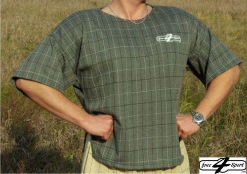 grün großkariertes T-Shirt Bodybuilding  Fitness Free4Sport bei 3KinX