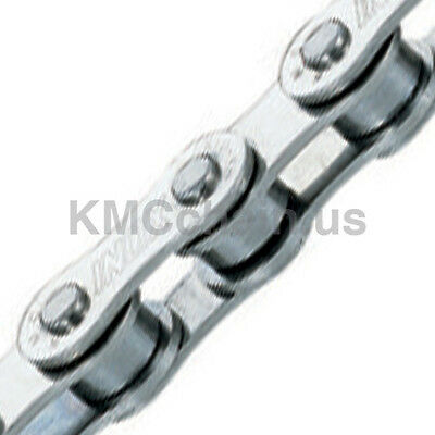 "KMC S10 BMX fixie single speed bicycle chain 1/2"" X 1/8"" 114L STAINLESS STEEL"