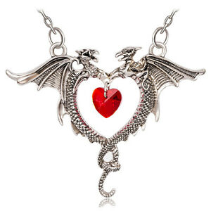 Alchemy gothic coeur sauvage fly dragon heart men women pendant image is loading alchemy gothic coeur sauvage fly dragon heart men mozeypictures Gallery