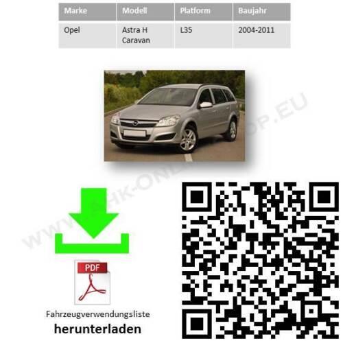 AHK ES13 Opel Astra H 04-10 Caravan Kombi Anhängevorrichtung Anhängerkupplung