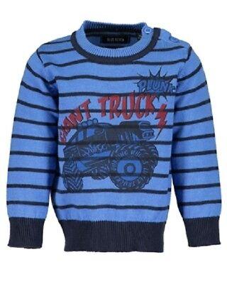 Blue Seven Jungen gestreift Pullover Nachtblau Orig 590 Herstellergr/ö/ße: 104 , Blau