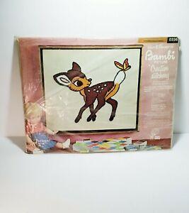 Walt-Disney-Paragon-Bambi-Creative-Stitchery-Embroidery-Kit-0336-Crafts-Vintage