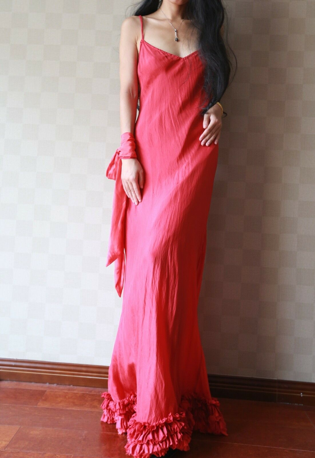 100% Natural Silk Handmade Dress, Independent Designer