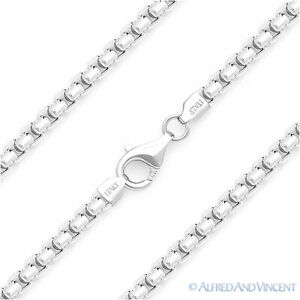3-6mm-Round-Box-Link-Italian-Chain-Necklace-925-Italy-Sterling-Silver-w-Rhodium