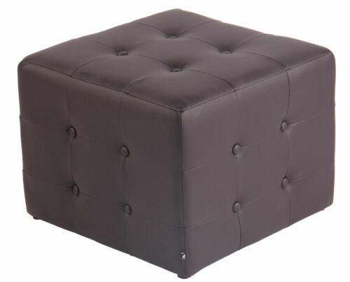 Sitzwürfel CUBIC Hocker Kunstleder Polsterhocker Würfel Lounge Design Sitzhocker