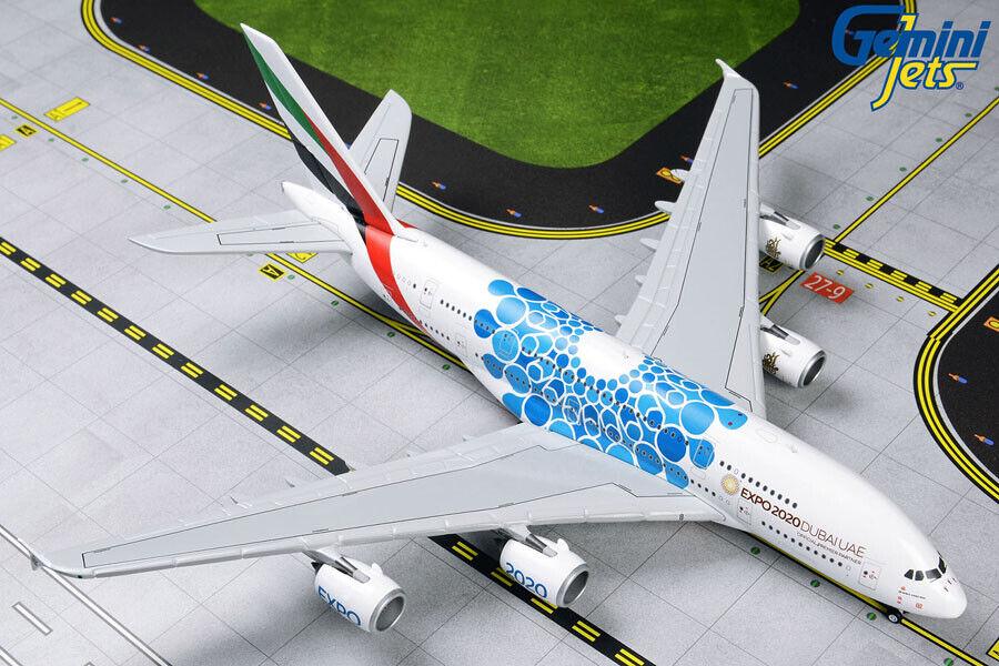 Emirates Airbus A380 bluee EXPO 2020 GeminiJets 1 400 Diecast Models GJUAE1833