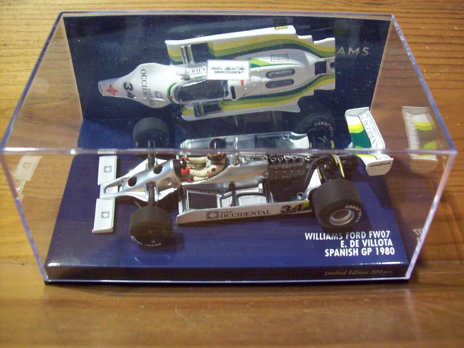1 43 WILLIAMS FORD FW07 Emilio De Villota Spanish GP 1980