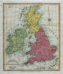 Details about 1812 Darton Union Atlas Map United Kingdom England Scotland  Ireland London UK