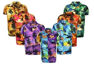 Homme-Chemise-Hawaienne-Stag-Plage-Hawaii-Aloha-Party-Summer-Holiday-Fantaisie-S-XXL-N1