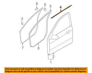 Front Door Window Sweep-Belt Molding Weatherstrip Left 6821052080