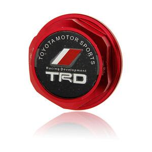 Red-TRD-JDM-Billet-Aluminum-Engine-Oil-FILLER-CAP-Fill-Tank-Cover-For-Toyota