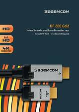Sagemcom UP200 Gold Upscaler Aktive Full-HD 4K Ultra-HD HDMI-Kabel Gold 2m NEU