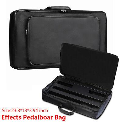 universal effect pedal board bag black for 60cm 33m guitar effect pedal case ebay. Black Bedroom Furniture Sets. Home Design Ideas