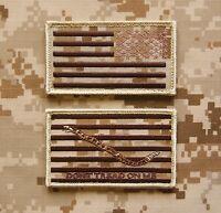 Nwu Type Ii Reverse Us Flag & First Navy Jack Patch Set Us Navy Aor1 Hook