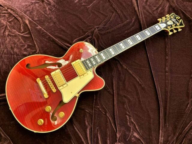 Mark Lacey Artist Red Made in USA 1996 Arched Top Semi Solid Body, y1262