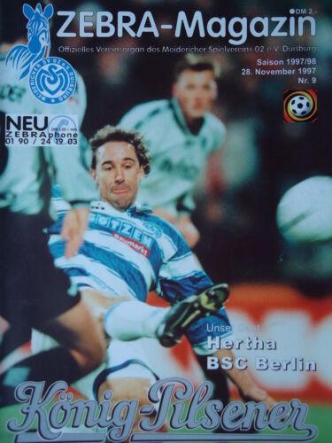 Programme 1997//98 MSV Duisburg-Hertha BSC