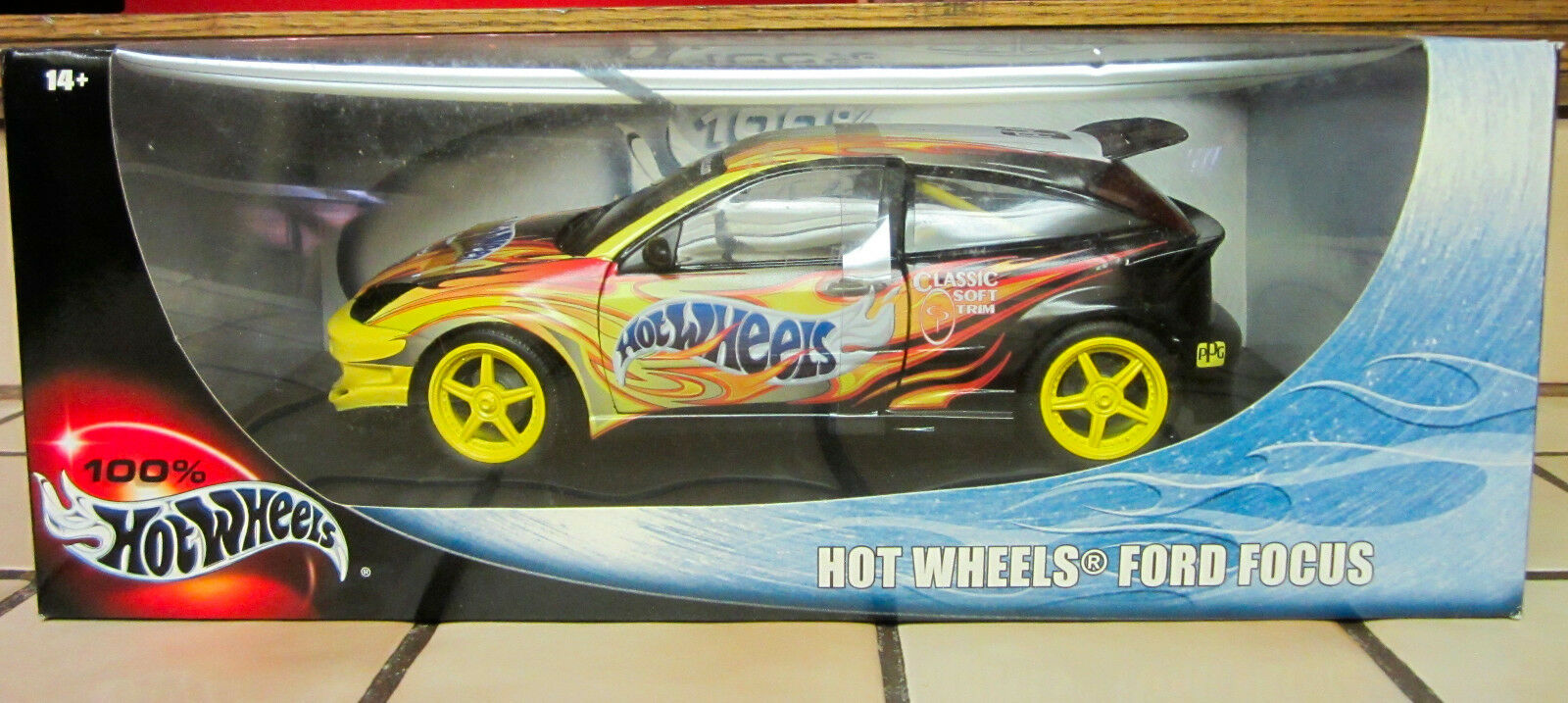 Hot Wheels Ford Focus Wings West w Flames Die-Cast Car 1 18 Scale NEW B5340